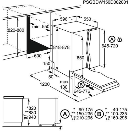 מדיח כלים רחב AEG FSB41600Z
