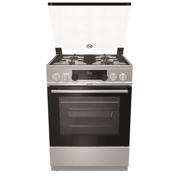 תנור עומד משולב כיריים גז ברוחב 60 ס''מ K634 גימור נירוסטה